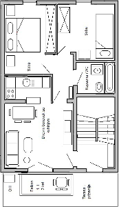 Ground plan of apartment 2