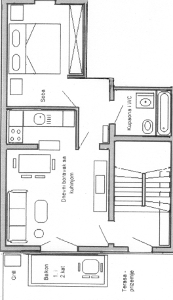 Ground plan of apartment 3